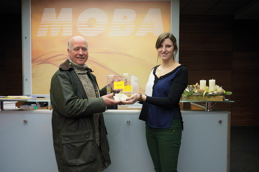 Handing over the Donation to Mr. Noble of the Animal Shelter Limburg